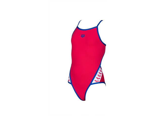 arena Team Stripe Super*** Back One Piece Swimsuit Girls freak rose/neon blue